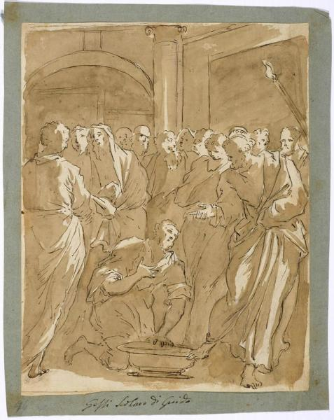 GIOVANNI FRANCESCO GESSI (SCHOOL OF)  - (1588 Bologna 1649)  - Christ Washing the [...]