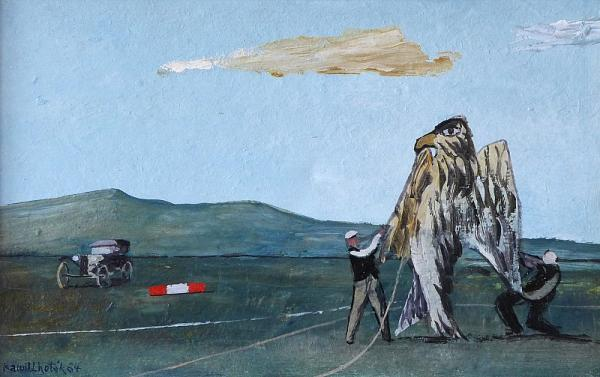 Kamil Lhoták (1912 - 1990)  - Canvas eagle  - tempera, cardboard  - 1964  - sign. LD [...]