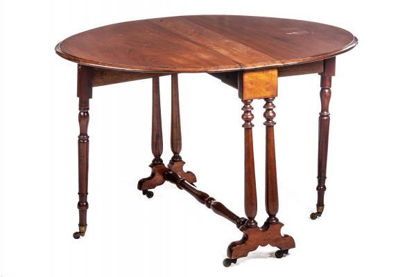 Table A Oreilles Dite Pembroke Table En Acajou Massif Et Pieds