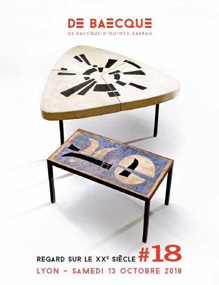 Vente Regard sur le XXe siècle #18 : Art Moderne et Contemporain - Design chez De Baecque & Associés : 374 lots