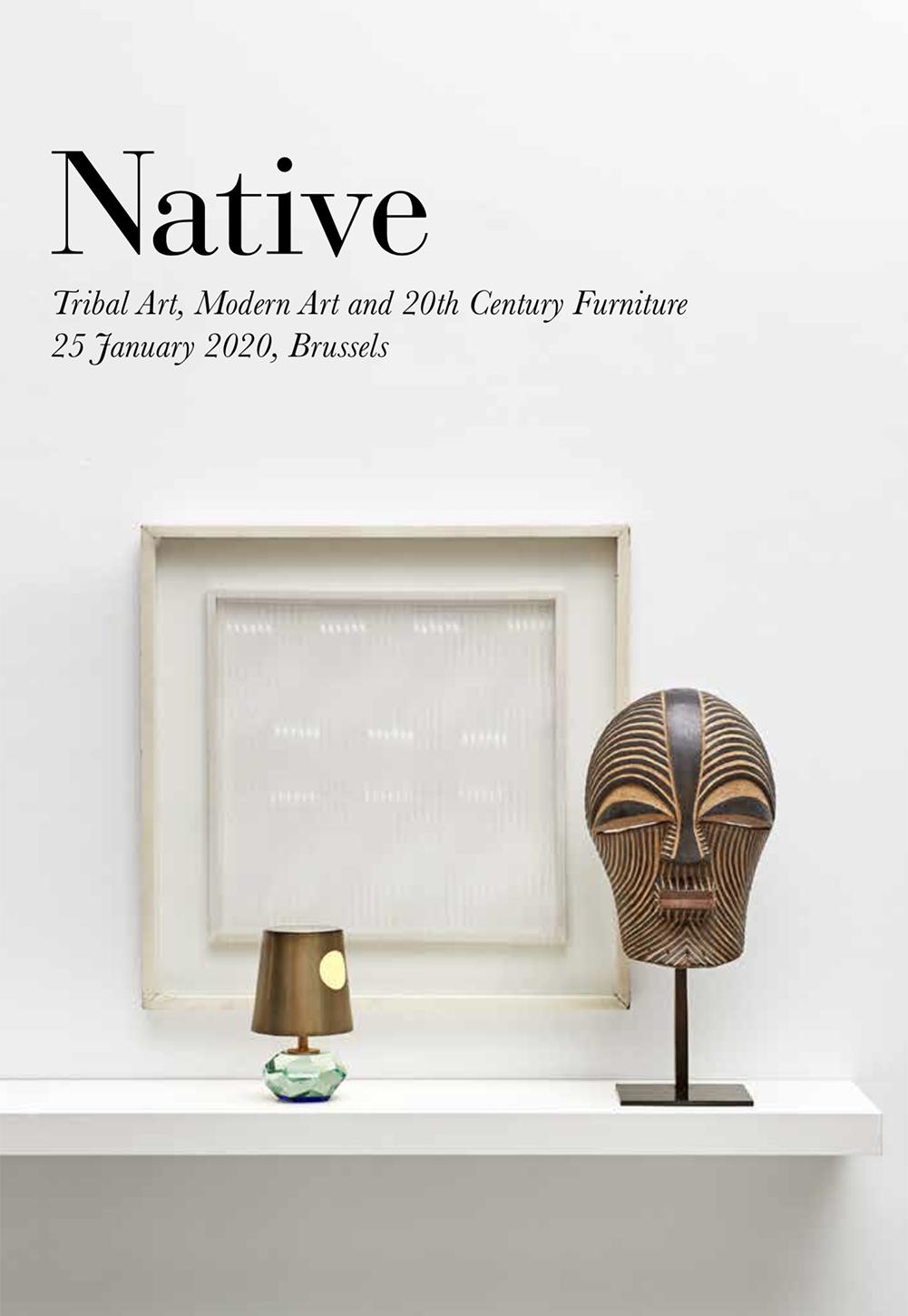 Vente Arts Premiers, Art Moderne et Mobilier du XXème siècle chez Native : 97 lots