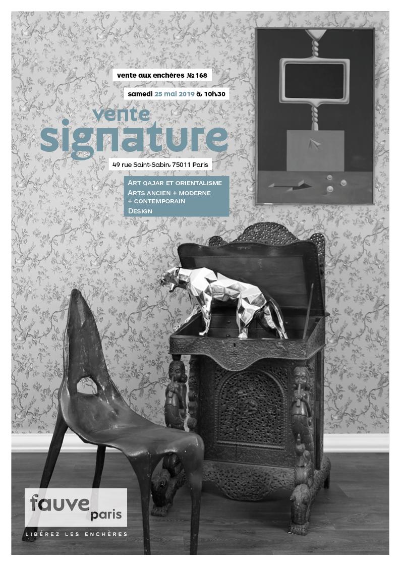 Vente VENTE SIGNATURE : Art Qajar et Orientalisme, Arts Ancien + Moderne + Contemporain • Design chez FauveParis : 62 lots