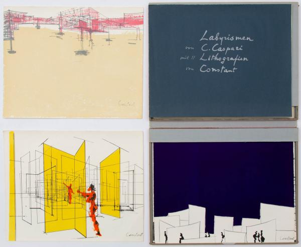 Constant (1920-2005) - Labyrismen (1968), the complete portfolio with eleven colour [...]