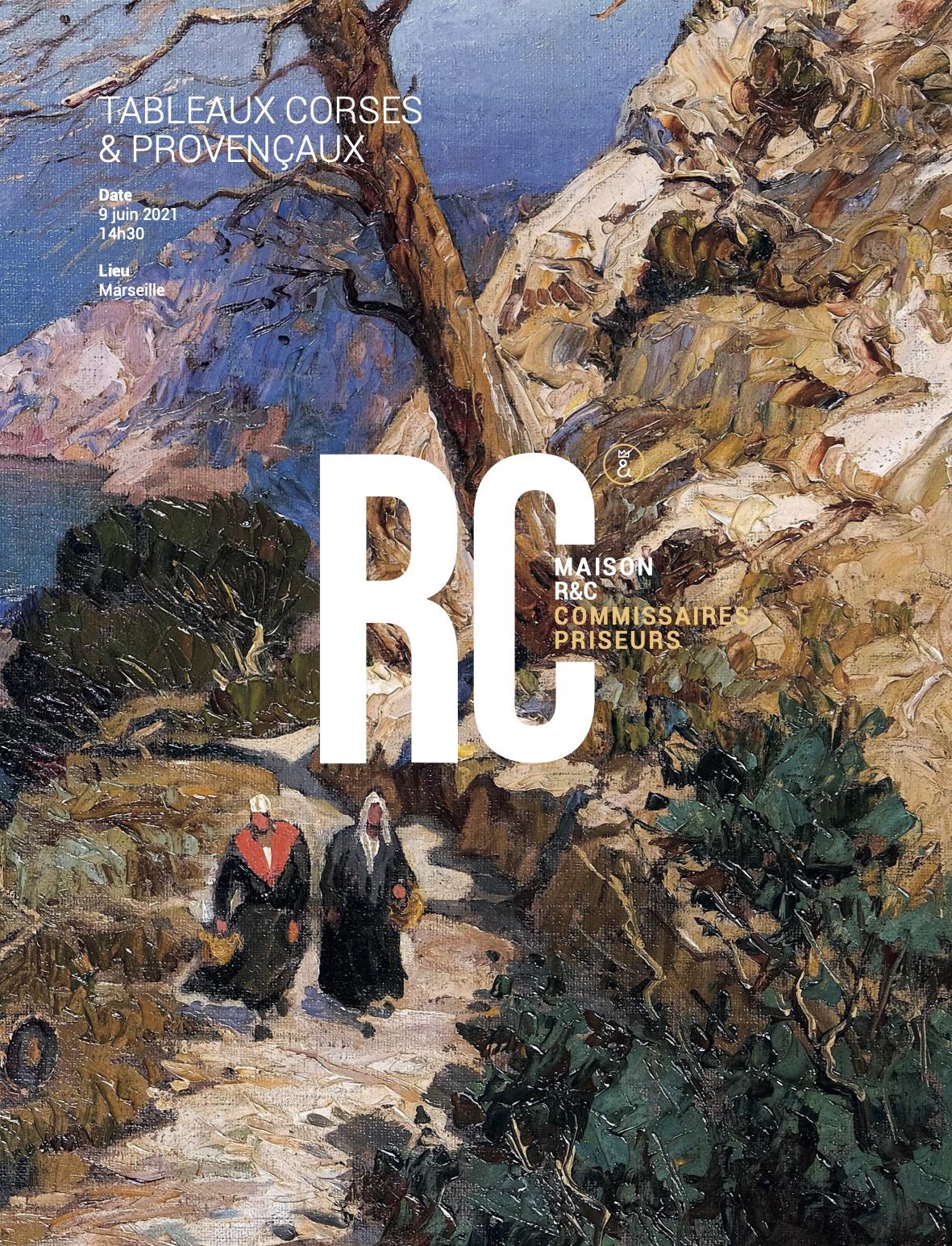 Auction Tableaux Corses et Provencaux  at Maison R&C Commissaires-Priseurs Associés : 258 lots