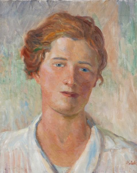 Alois Bílek (1887-1961) - Portrait of young man - 45 x 37, oil, canvas, signed [...]