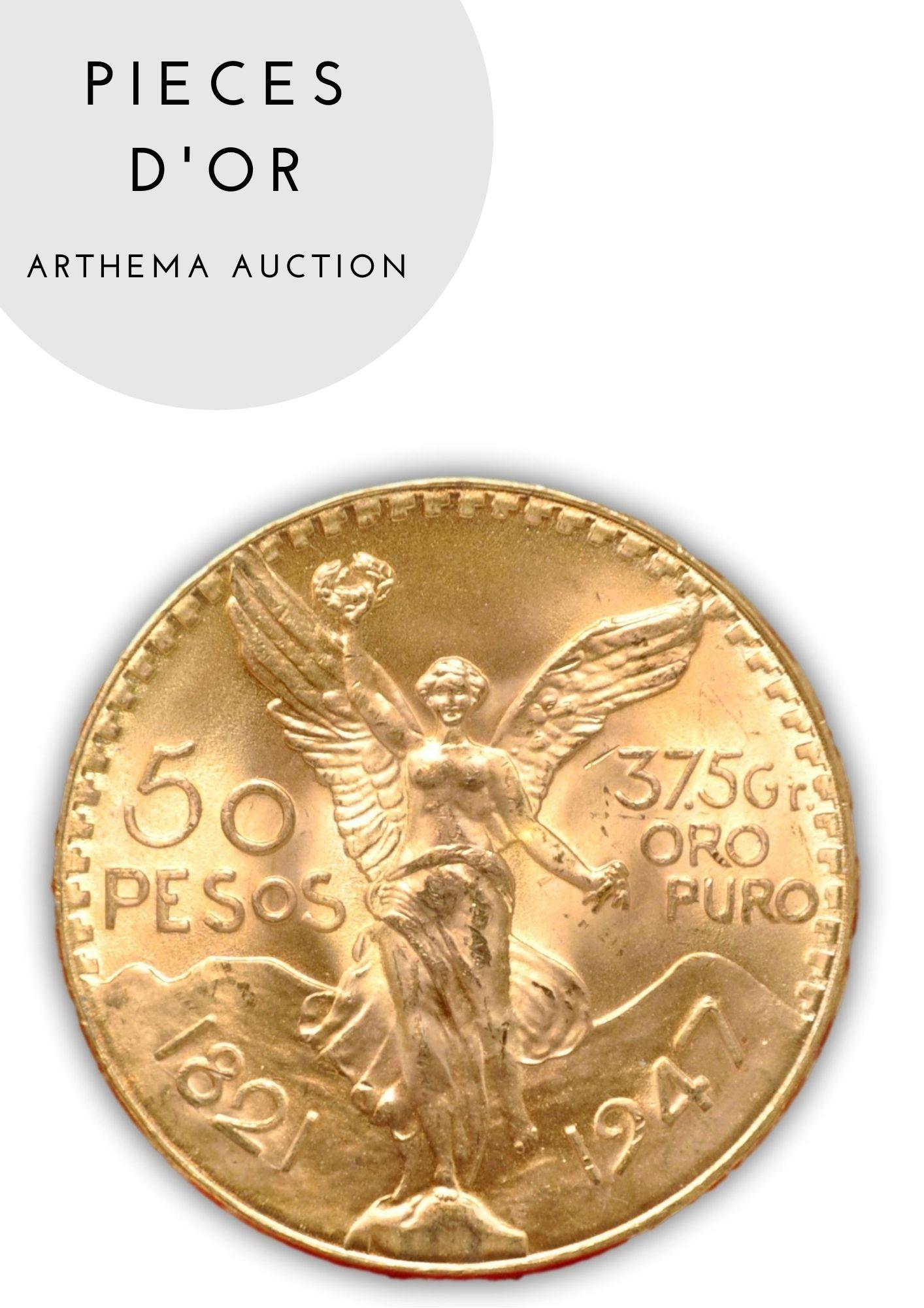 Vente Pièces d'Or chez Arthema Auction : 99 lots