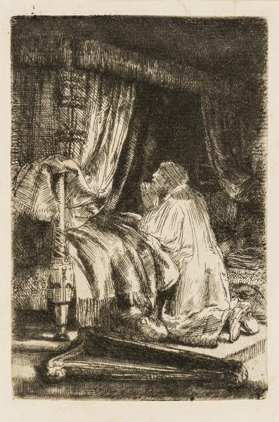 Rembrandt van Rijn (1606-1669) David at Prayer