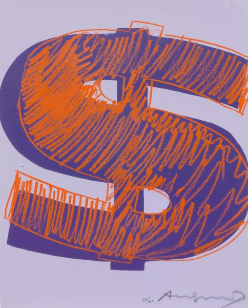 WARHOL, ANDY  - (Pittsburgh 1928 - 1987 New York)  - Dollar Sign (1). 1982.[...]