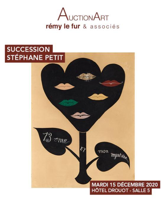 Vente Succession Stéphane Petit, Surréalisme, Dessins, Tableaux, Sculptures, Art Contemporain  chez AuctionArt - Rémy Le Fur & Associés : 221 lots