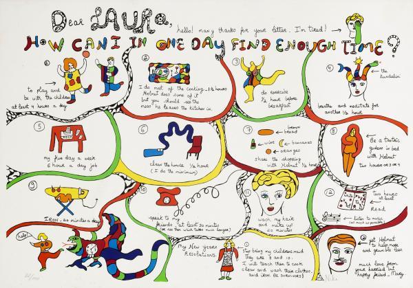 Niki De Saint Phalle 1930 2002 Dear Laura Lithographie Coloree Numerotee Lot 24 Art Du Xxeme Et Contemporain Chez Geneve Encheres Auction Fr