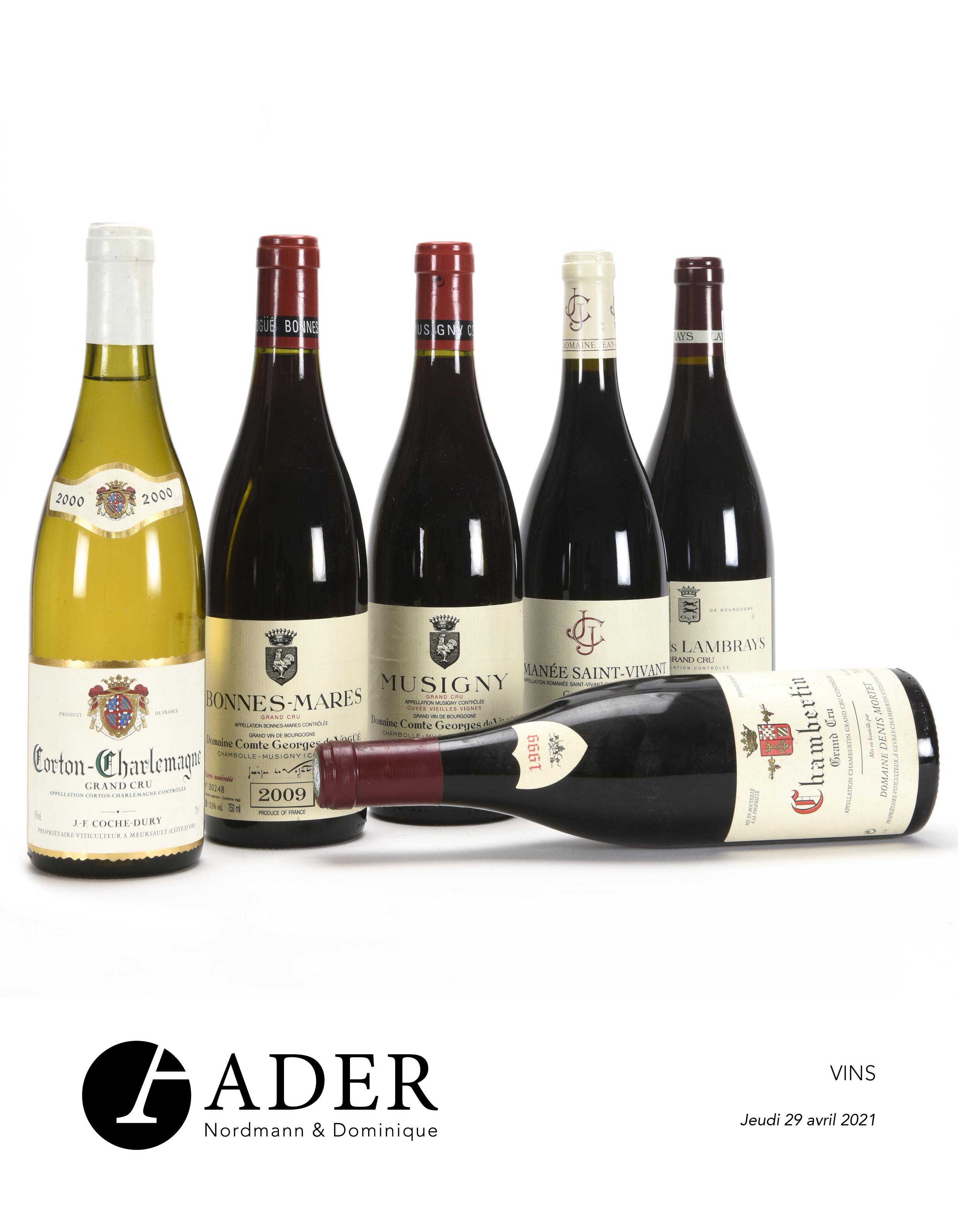 Vente Vins, Champagnes & Spiritueux chez Ader : 250 lots