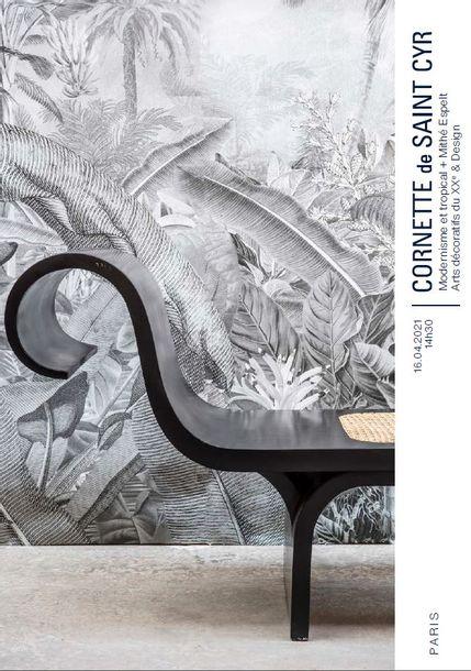 Vente Modernisme et tropical + Mithé Espelt - Arts décoratifs du XXe & Design chez Cornette de Saint Cyr Paris : 185 lots