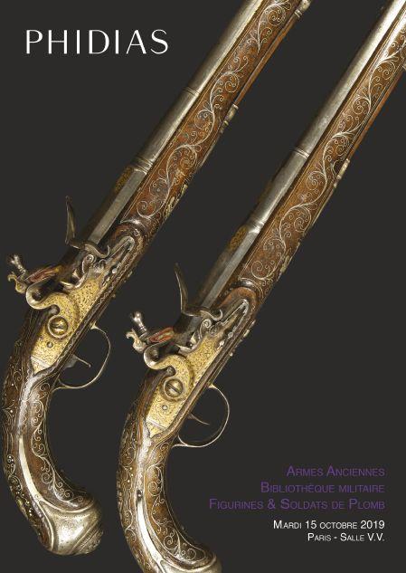 Vente Armes Anciennes, Bibliothèque Militaire, Figurines & Soldats de Plomb chez Phidias : 485 lots