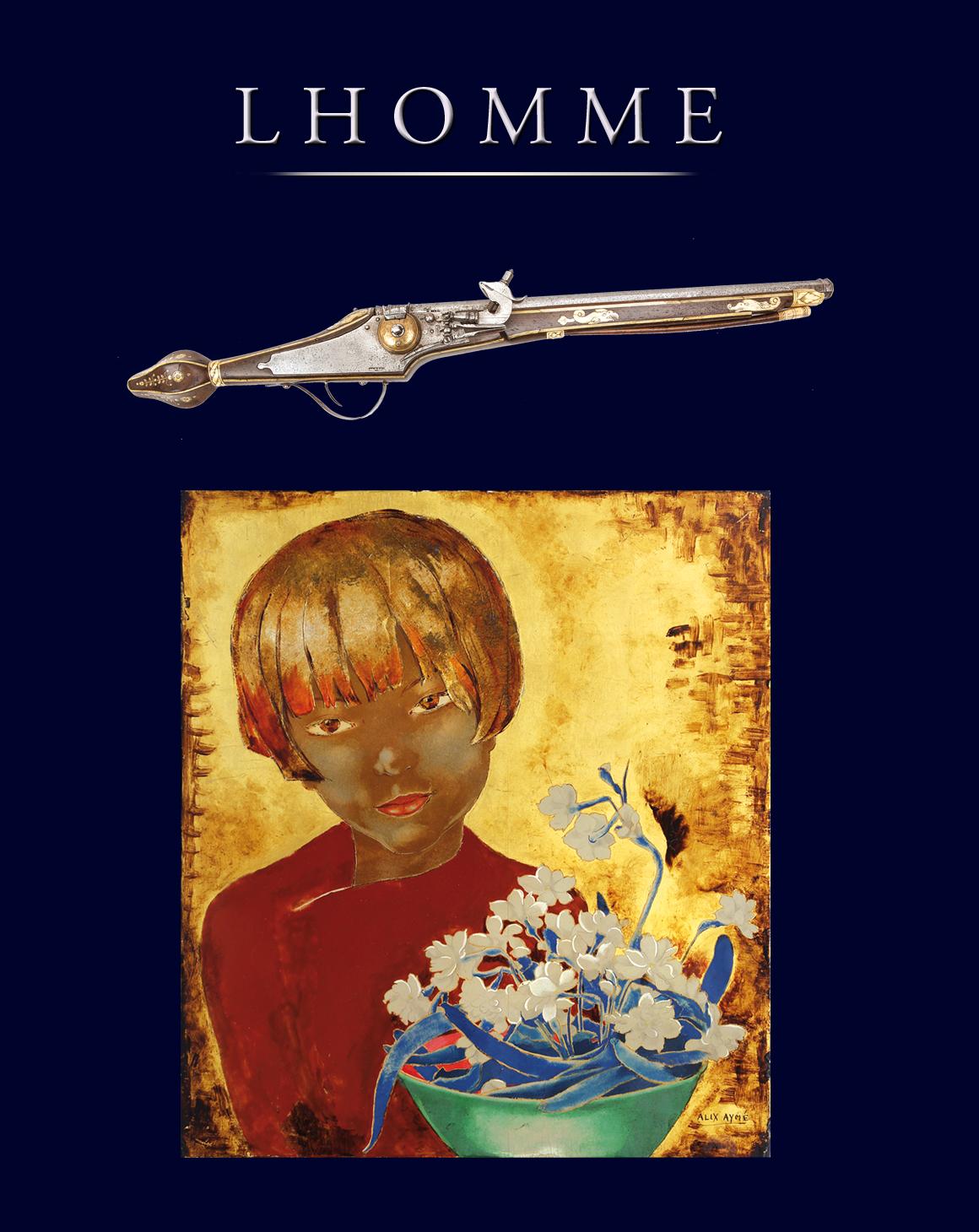 Vente Art Moderne et Contemporain, Armes anciennes, Livres, Militaria chez LHOMME : 528 lots