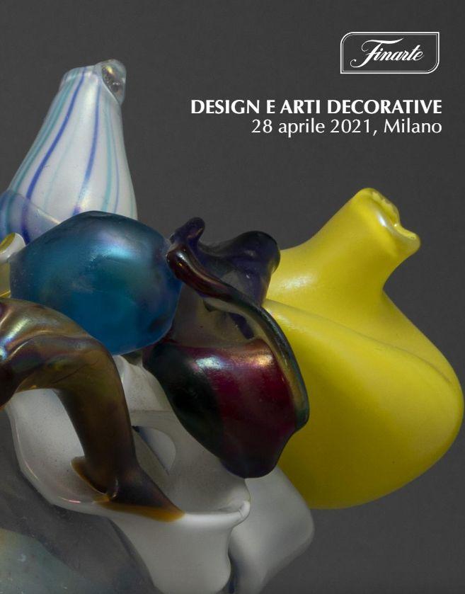 Vente Arts Décoratifs et Design (Milano) chez Finarte Auctions S.r.l. : 156 lots