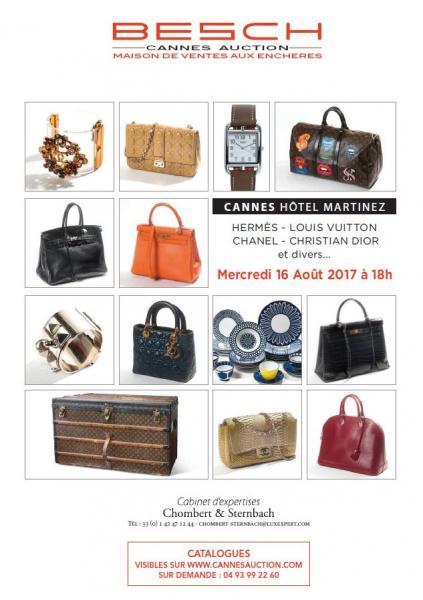 52d5c605426523 Catalogue de la vente Hermès, Vuitton, Chanel, Dior, Gucci, Bagages,  Maroquinerie, Accessoires, Montres, Bijoux, Art de la Table à Besch Cannes  Auction ...