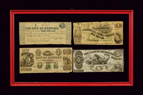 A lot of four one dollar banknotes - dating: 1862  - provenance: USA, From [...]