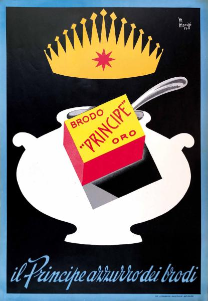 Mario Morigi (1904-1978), Prince of Soup - First edition litographic poster, 1956.  - [...]