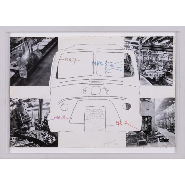 ƒ Alain Jacquet (1939-2008)  - Estafette Renault, 1969  - Technique mixte et collage [...]