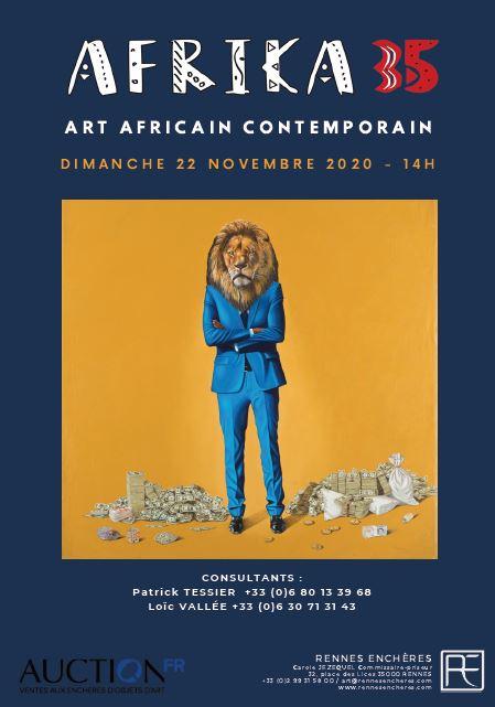 Vente AFRIKA35 #2 - Art Contemporain Africain chez Rennes Enchères : 256 lots