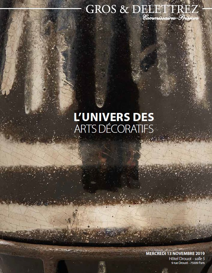 Vente L'Univers des Arts Décoratifs chez Gros - Delettrez : 162 lots