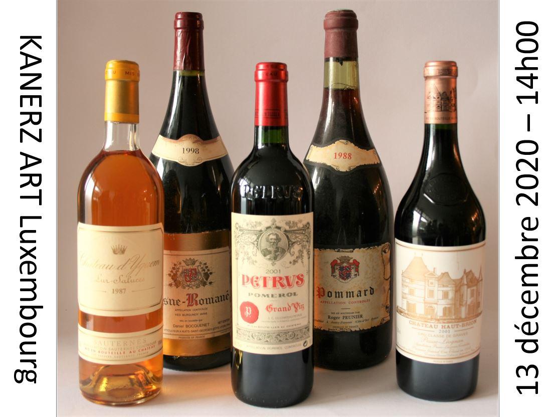 Vente VINS & SPIRITUEUX : Vins français et vins du monde, alcools (Porto, Armagnac 1914 ...) chez Kanerz Art : 279 lots