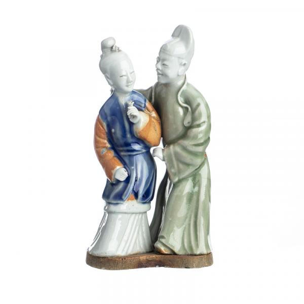 Sculptural 'courting' group in chinese stoneware, Qianlong - China, período [...]