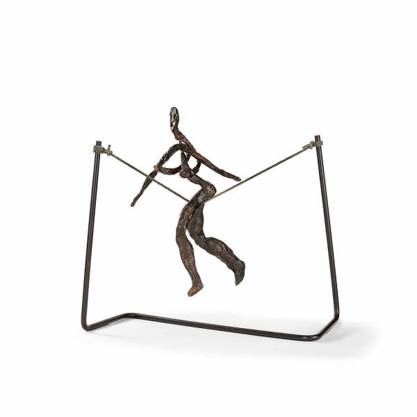 ƒ ALEXANDER CALDER (1898-1976) Tightrope Worker (Woman on Cord), 1944-1969 Bronze, [...]
