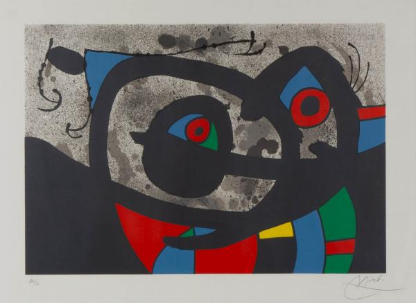 Joan Miró (1893-1983) - Untitled from 'Le Lézard aux Plumes d'Or' (1971), signed in [...]