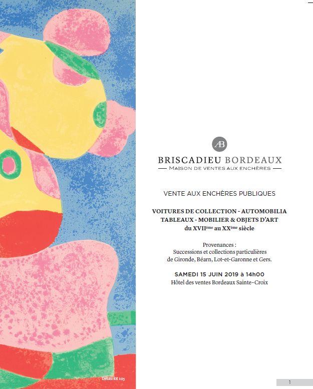 Vente Voitures de Collection, Automobilia, Tableaux, Mobilier et Objets d'Art chez Briscadieu Bordeaux : 313 lots