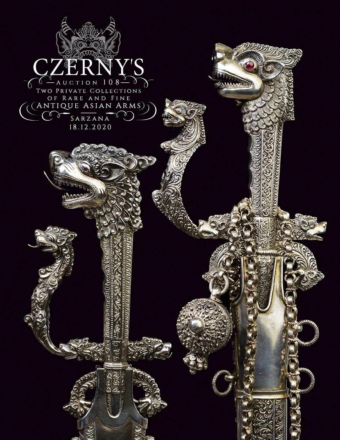Vente Deux Collections Privées de Rares Armes Asiatiques Anciennes chez Czerny's : 861 lots