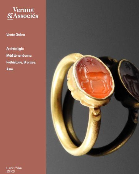 Auction Archéologie Méditerranéenne, Préhistoire, Bronzes, Asie, Curiosités... at Vermot et Associés : 225 lots