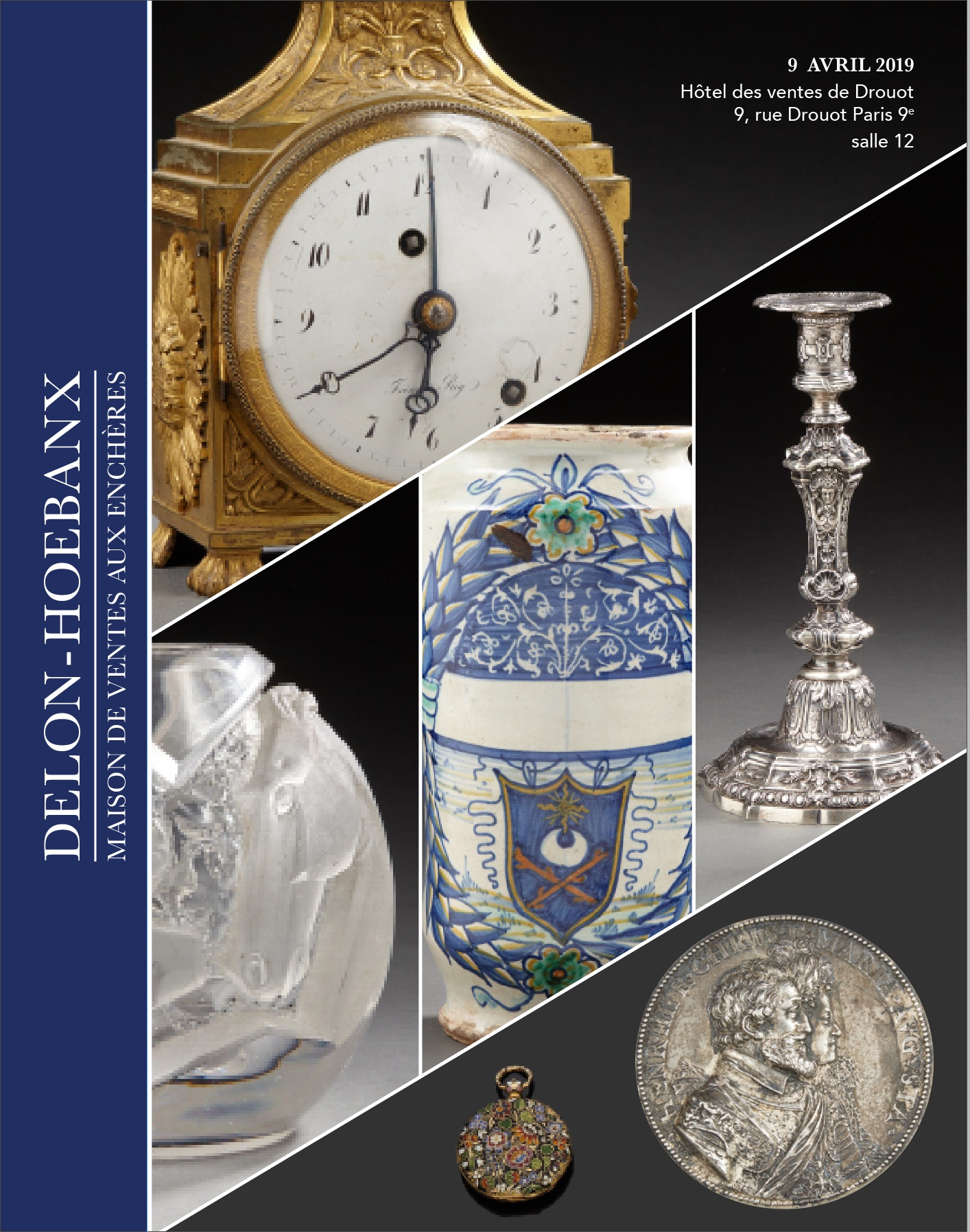 Vente Bijoux, Horlogerie, Objets de Vitrine, Objets d'Arts, Orfèvrerie, Numismatique chez Delon-Hoebanx : 334 lots