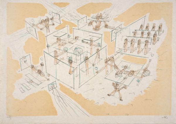 Roberto Matta 1911 2002 Les Convaincus 1976 Lithographie En Couleurs Lot 281 Estampes Multiples Livres Illustres Chez Artcurial Auction Fr