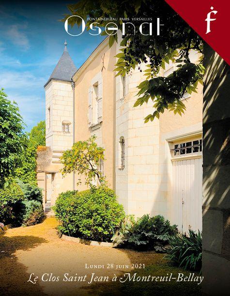 Vente Mobilier et Objets d'Art - Le Clos Saint Jean à Montreuil-Bellay (Fontainebleau) chez Osenat : 293 lots