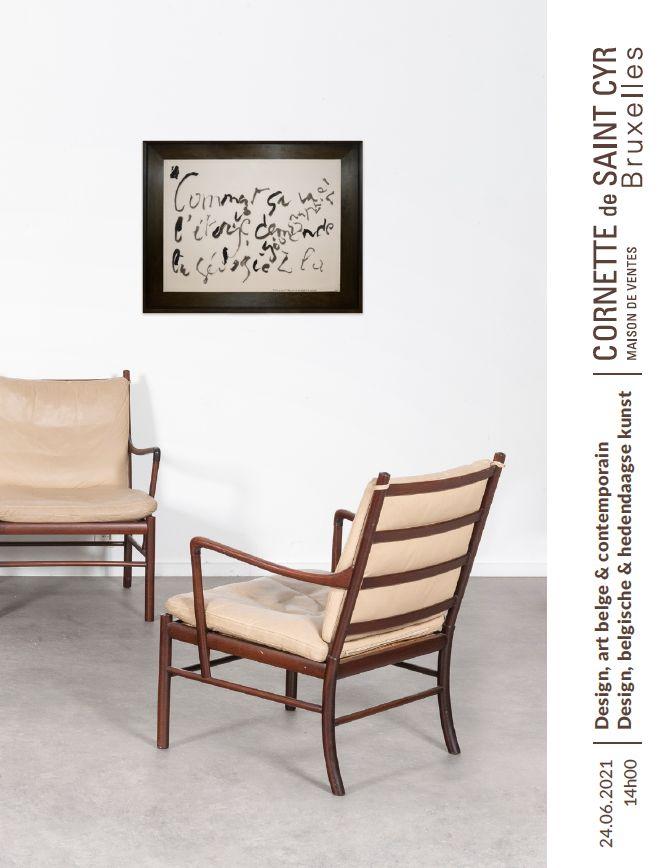 Auction Design, Art Belge & Art Contemporain  at Cornette de Saint Cyr Bruxelles : 452 lots