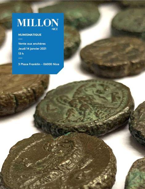 Vente Numismatique VI : de l'Empire Romain à l'Ancien Régime  (Nice) chez Millon et Associés Paris : 238 lots