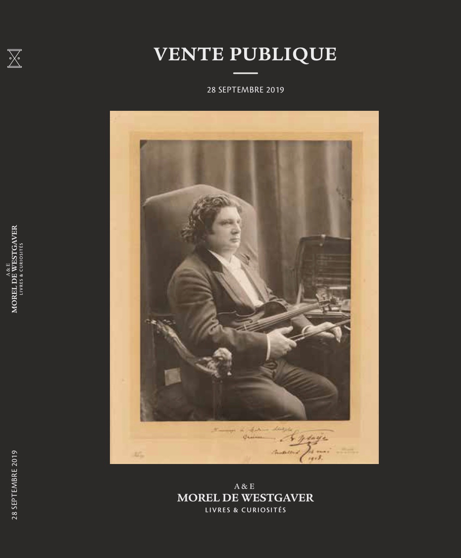 Vente Livres & Curiosités chez Morel de Westgaver : 541 lots