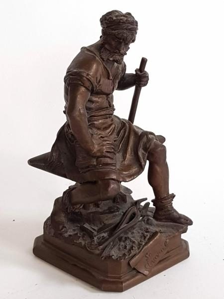 [Fine arts: 20th century] Charles August Lebourg (1829-1906). Le Travail - Bronze [...]