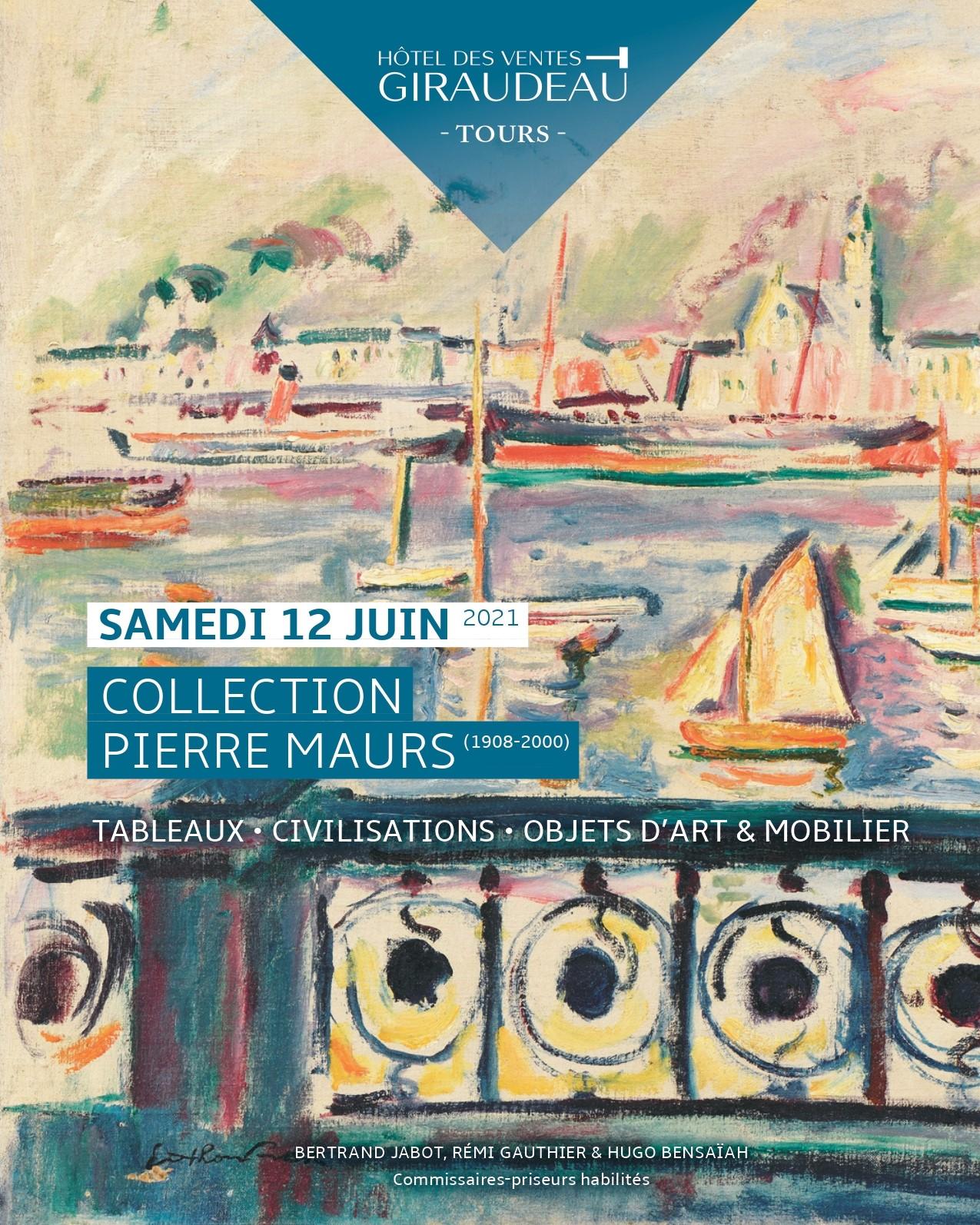Vente Collection Pierre MAURS (1908-2000) : Tableaux, Civilisations, Objets d'Art et Mobilier. chez Hôtel des Ventes Giraudeau : 129 lots
