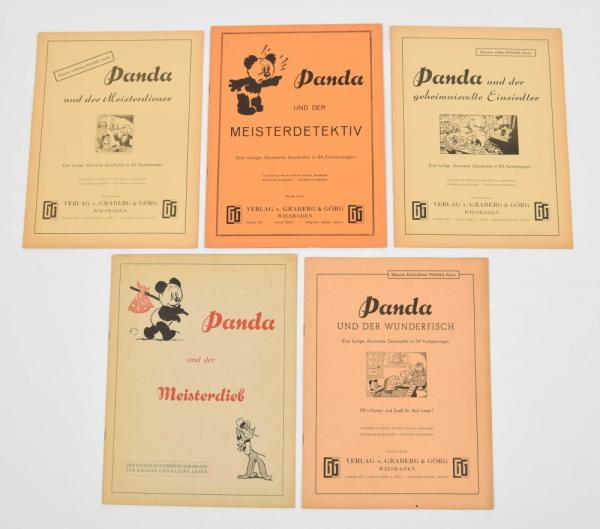 [Comics] Marten Toonder - Panda - 5 vols. in German from the Panda series: Panda und [...]
