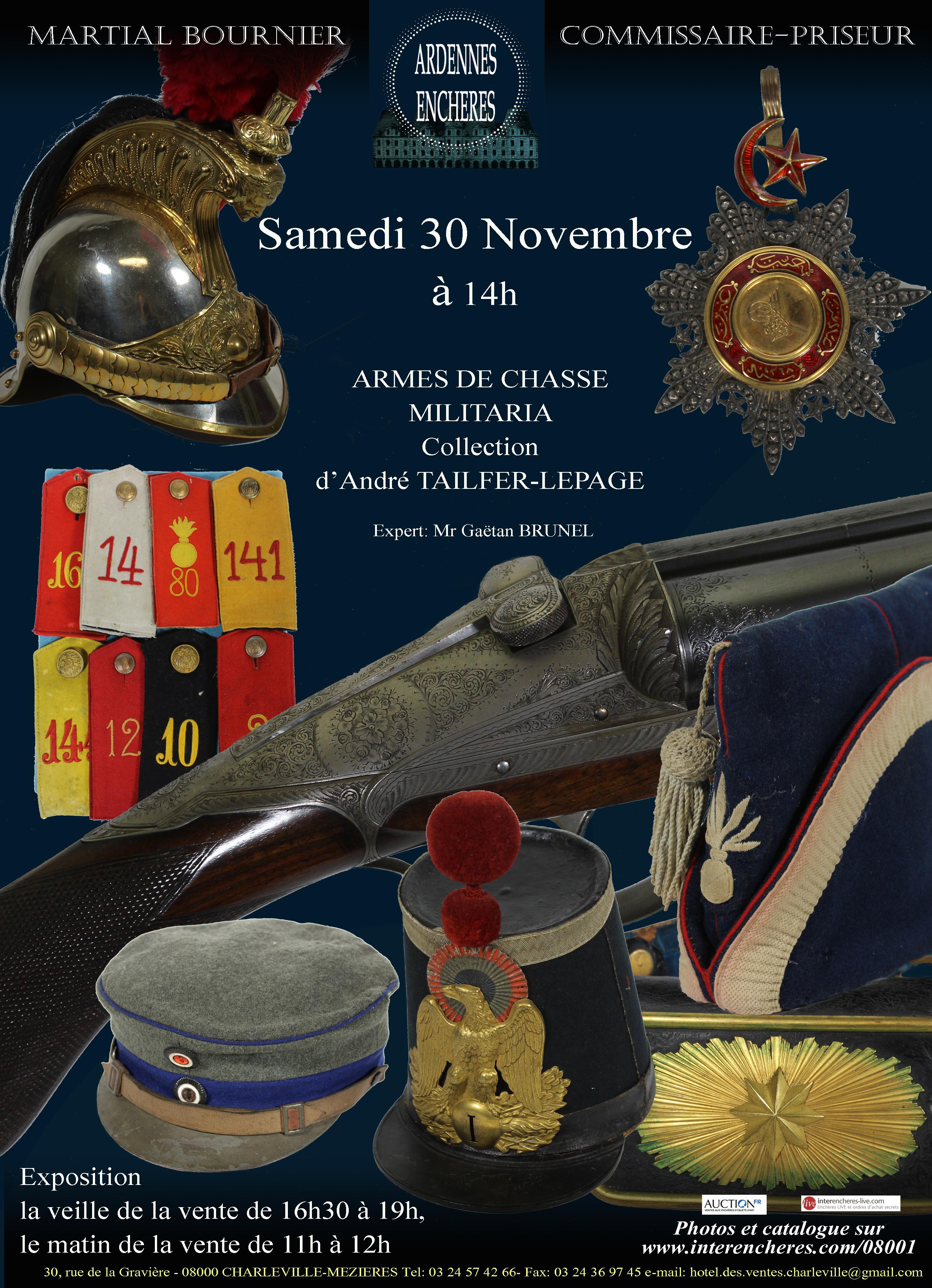 Vente Armes de Chasse & Militaria - Collection de Mr André Tailfer - Lepage