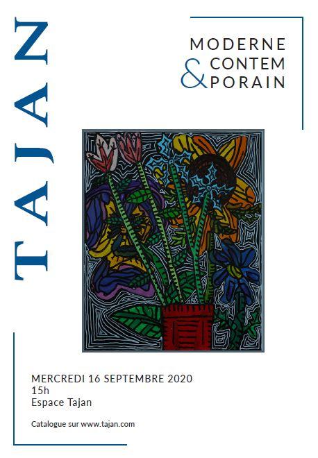 Vente Art Moderne et Contemporain chez Tajan : 148 lots