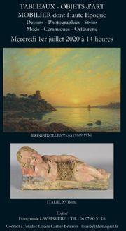 Vente Dessins, Tableaux, Objets d'Art, Argenterie, Mobilier, Stylos, Haute Epoque, Photographie,Céramique,  chez SVV Thierry de Maigret : 235 lots