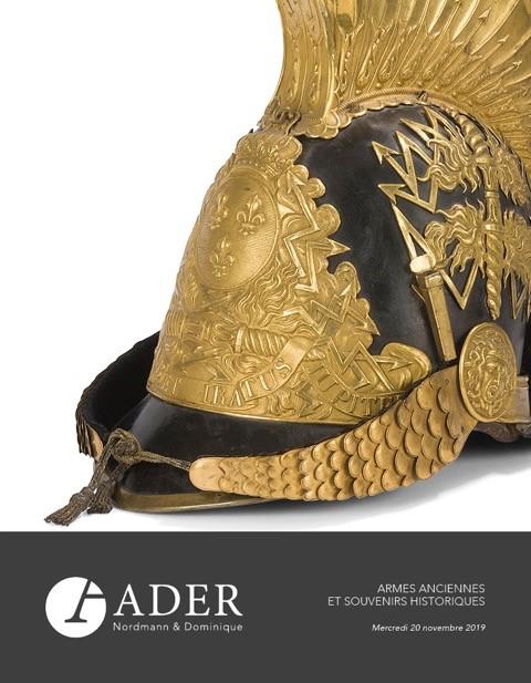 Vente Armes Anciennes & Souvenirs Historiques chez Ader : 330 lots