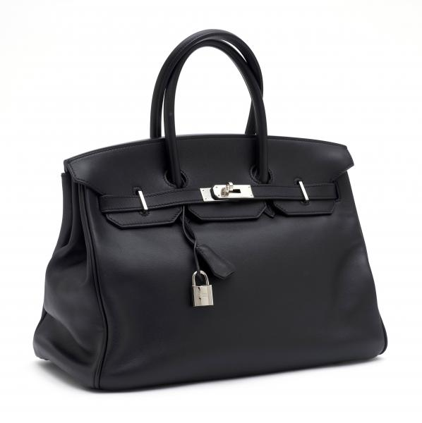 HERMÈS PARIS MADE IN FRANCE  - 2011.  - A Birkin BAG 35 cm in black Swift leather. [...]