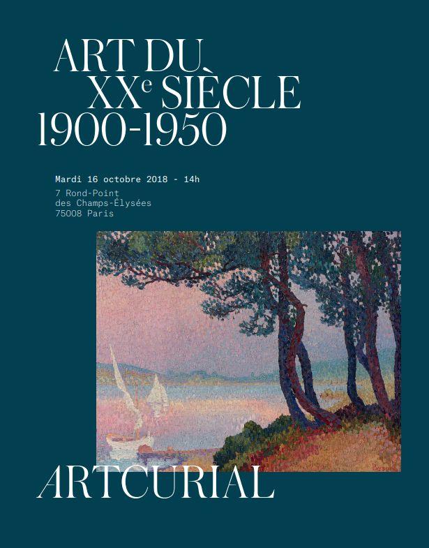 Vente Art du XXe  siècle  1900-1950 chez Artcurial : 155 lots