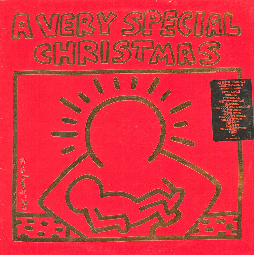 keith haring 1958 1990 7 disques vinyle a very special christmas 33 tours vente pas courante jouets arts dcoratifs mobilier verrerie