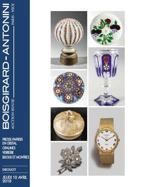 Vente Boules presse-papiers en cristal  - Verrerie Art Nouveau & Art Déco - Bijoux  - Argenterie chez Boisgirard Antonini Paris : 362 lots