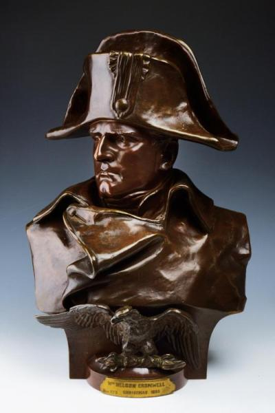 A fine bust of Napoleon I signed R. Colombo and donated to William Nelson Cromwell - [...]